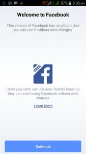 Internet.org Free Facebook, No Photo