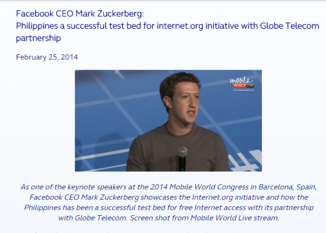 Mark Zuckerbrg - Globe 2014